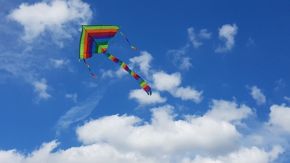 Kite flying in the sky on Uttarayan in Ahmedabad