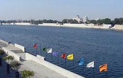 Sabarmati Riverfront view in Ahmedabad