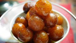 Bowl full of famous Gujarati sweets Gulab Jamun