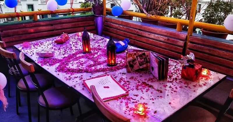 Bluez Terrace Cafe for a romantic candle light dinner