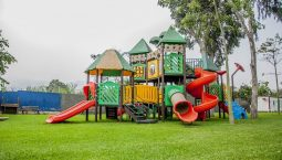 A fun place for Kids having tiny houses and slides